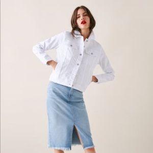 Zara white jean jacket